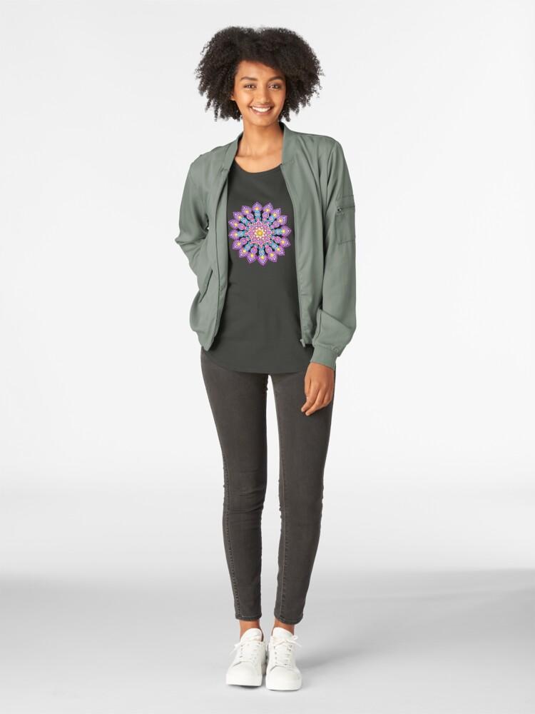 Alternate view of Purple Dot Mandala - Art&Deco By Natasha Premium Scoop T-Shirt
