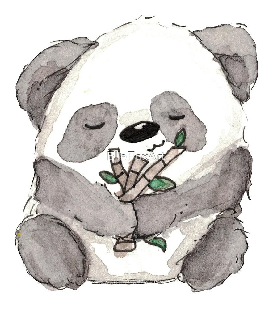 Panda by ElleFoxArt