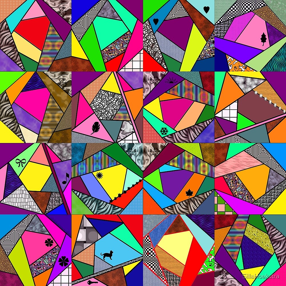 Crazy Quilt Drawing Artwork by SillaHoekstra