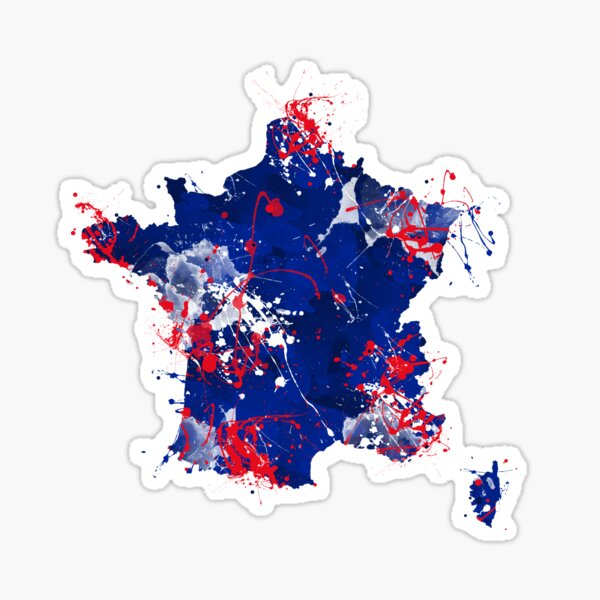 Map of France Sticker