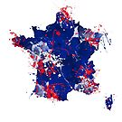 Map of France by azpictured