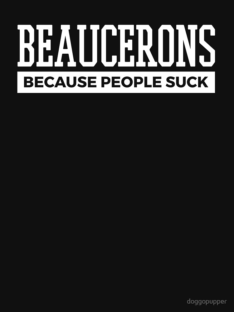 Beaucerons Dog Tee Cute Funny Dog Gifts by doggopupper