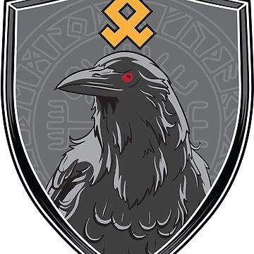Valhalla  Raven Rune Crest by Weirsbowski