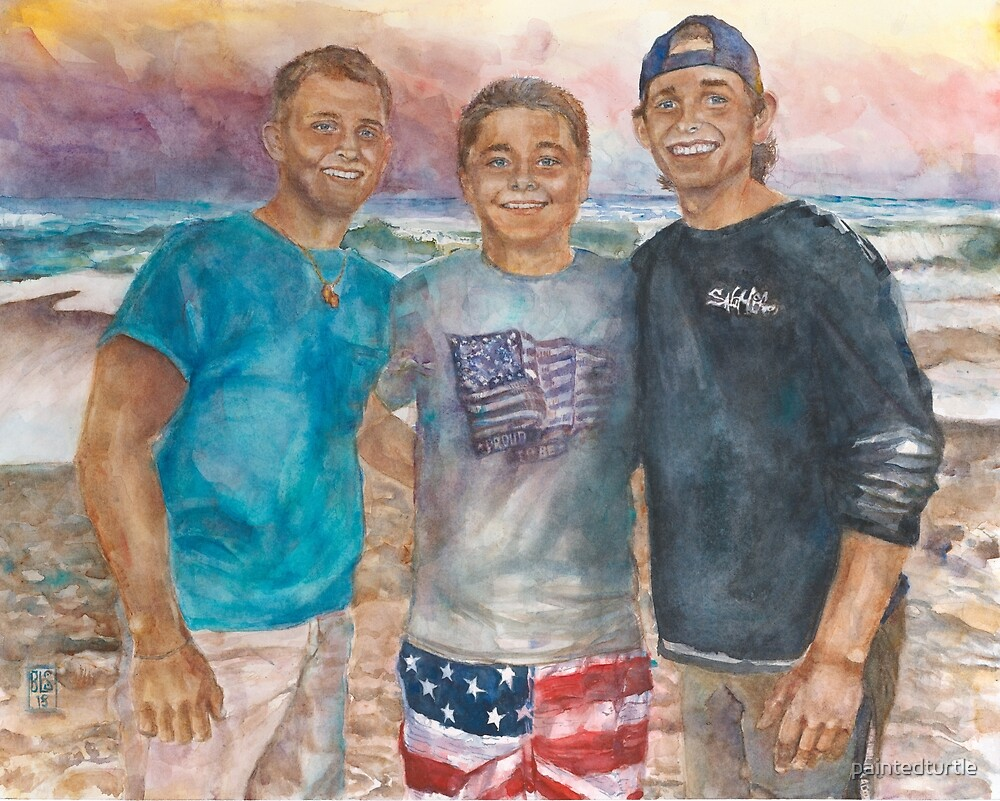 Brian, Justin and Ric @ the Beach by paintedturtle