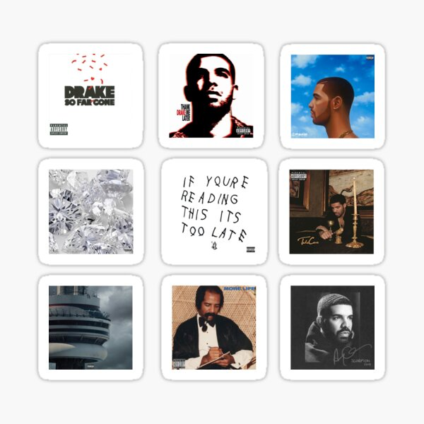 Drakes álbumes Pegatina
