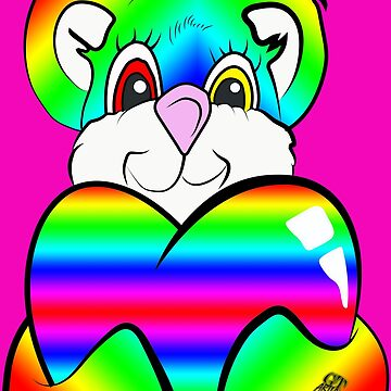 Rainbow Psychedelic Teddy Bear by GTARTLAND