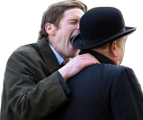 Shaun Evans Screaming At Some Random Guy by carleyestep