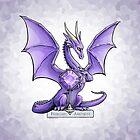 February Amethyst Dragon Birthstone Illustration by Stephanie Smith