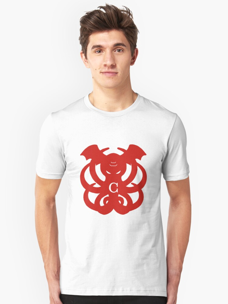 Cthulhu Arms (red) Unisex T-Shirt Front