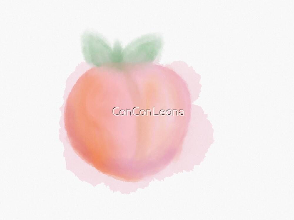 Peach Watercolour by ConConLeona