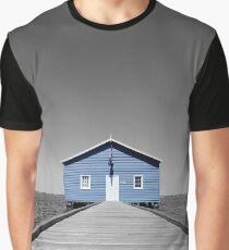 Blue House Splash - Crawley Boat Shed Graphic T-Shirt