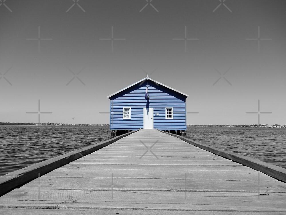 Blue House Splash - Crawley Boat Shed by Lunaqwa