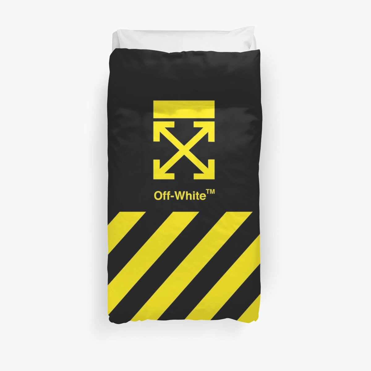 Off White Cover Full Yellow Stripe by RobertOneal