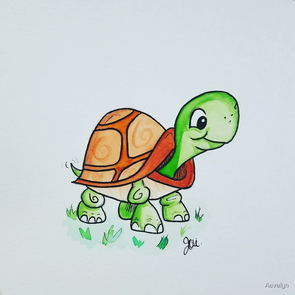 Lil Watercolor Turtle by Aavelyn