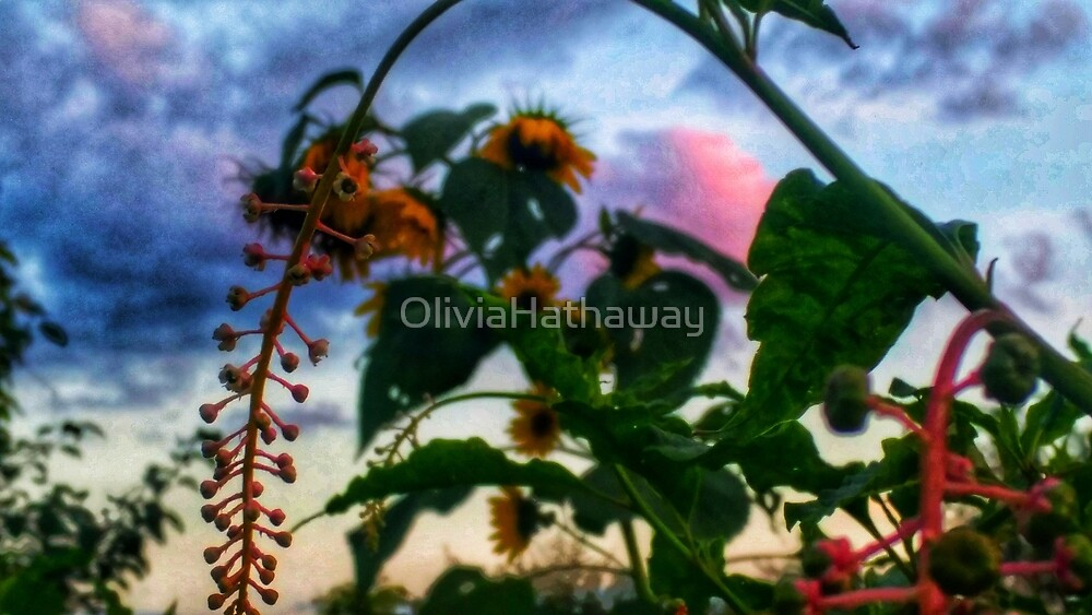Sunflowers and Wild Weeds by OliviaHathaway