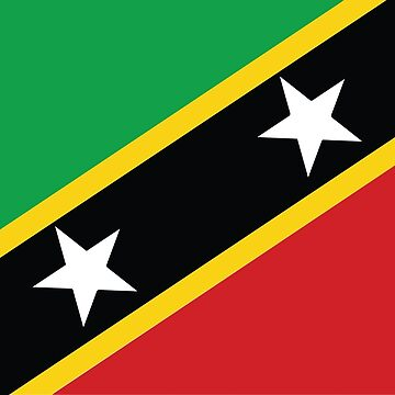 St Kitts and Nevis Flag by identiti