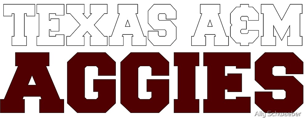 Texas A&M Aggies Block by Ally Schwaeber