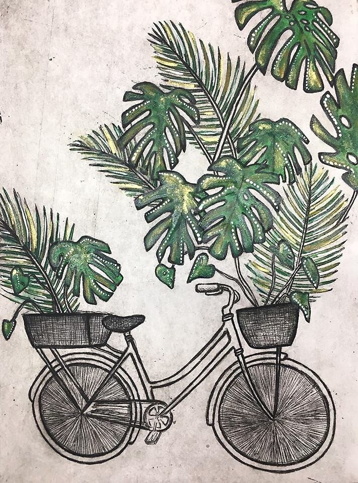 Jungle Bicycle  by KatePiekutowski