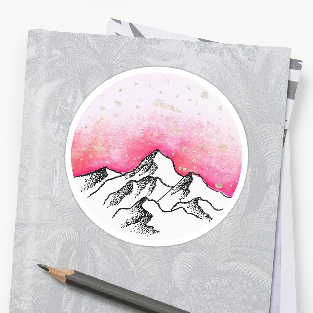 Pink Mountains by calyla