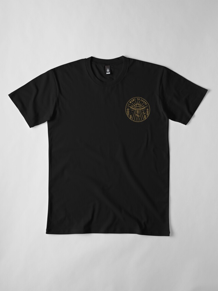 Alternate view of I Want To Leave - Pocket Premium T-Shirt