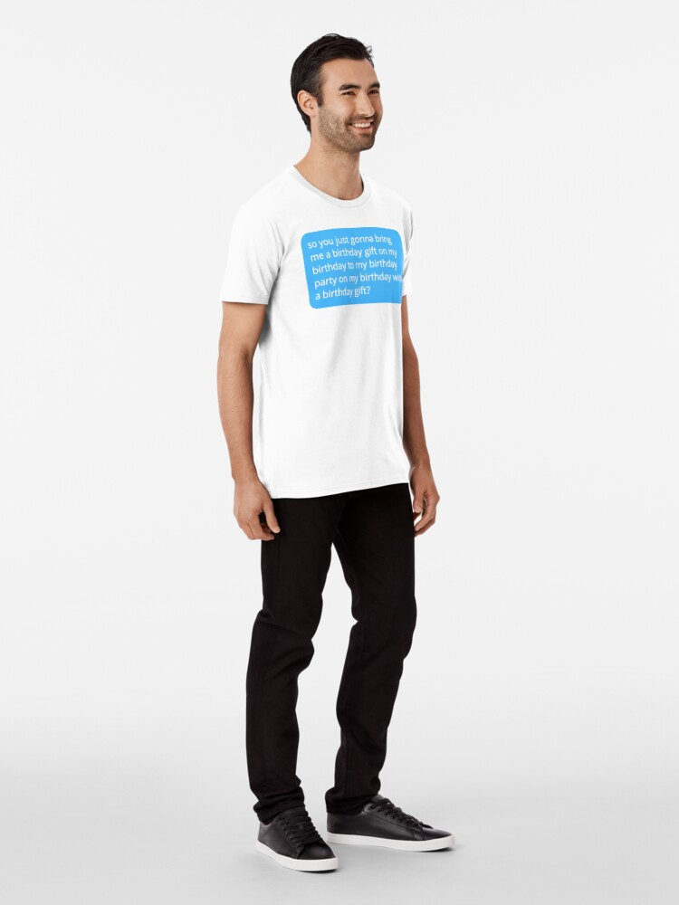 Alternate view of Happy Birthday? Premium T-Shirt