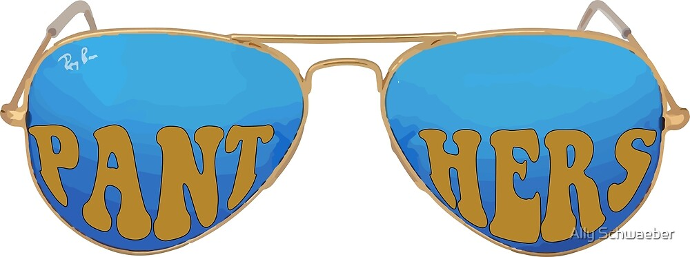 Panthers Blue Sunglasses by Ally Schwaeber