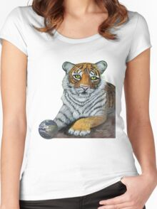 Hilary  Robinsons tigers paw  Women's Fitted Scoop T-Shirt
