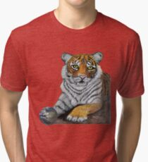 Hilary  Robinsons tigers paw  Tri-blend T-Shirt