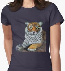 Hilary  Robinsons tigers paw  Womens Fitted T-Shirt