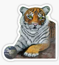 Hilary  Robinsons tigers paw  Sticker