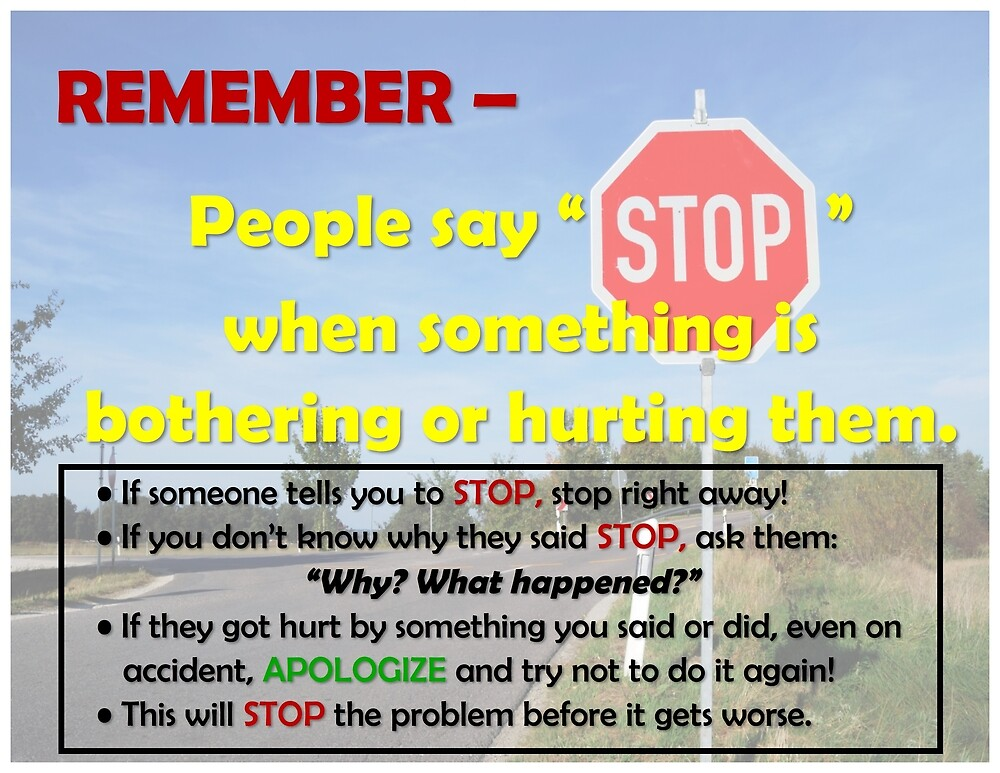 STOP poster for school by thesunshore