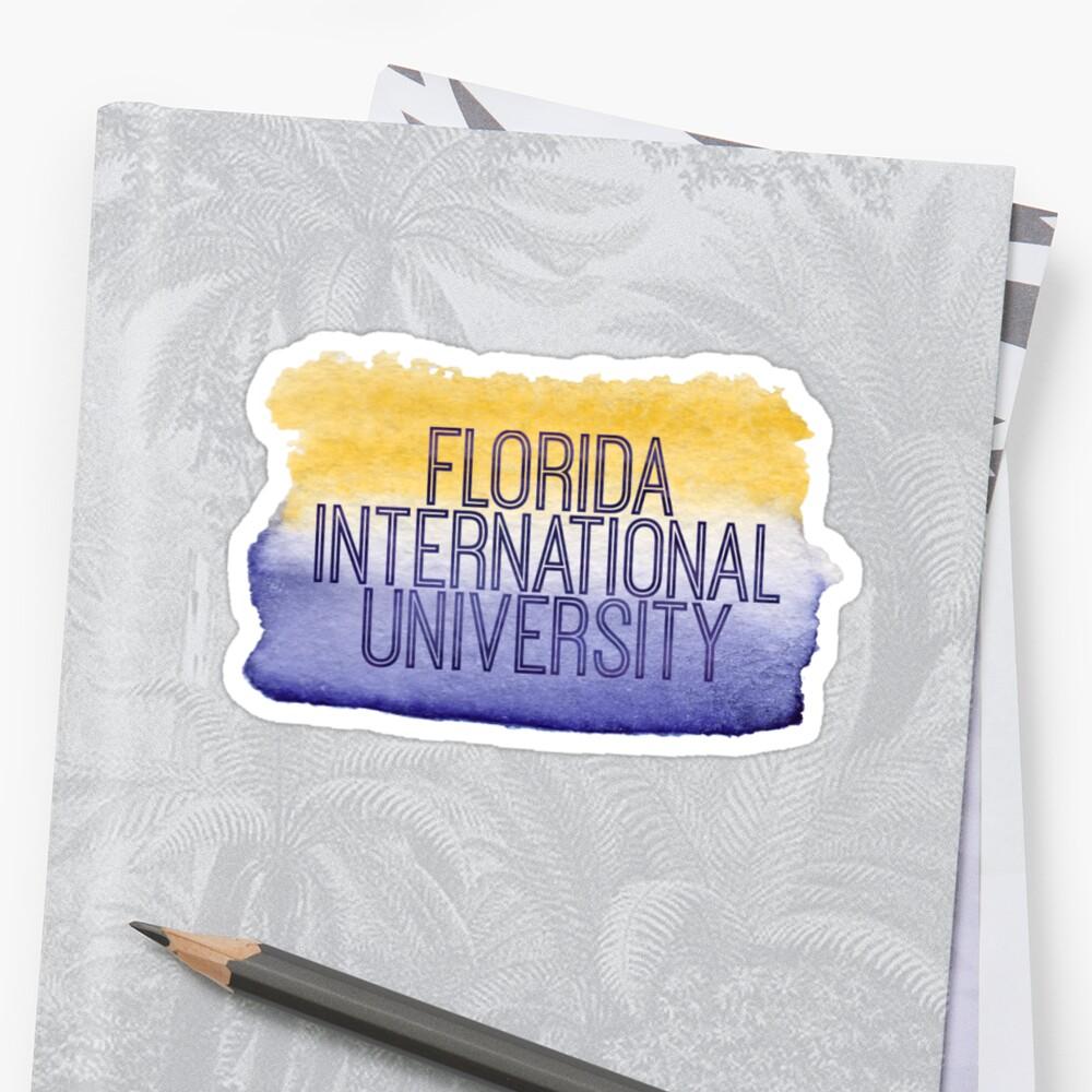 Florida International University  Sticker Front