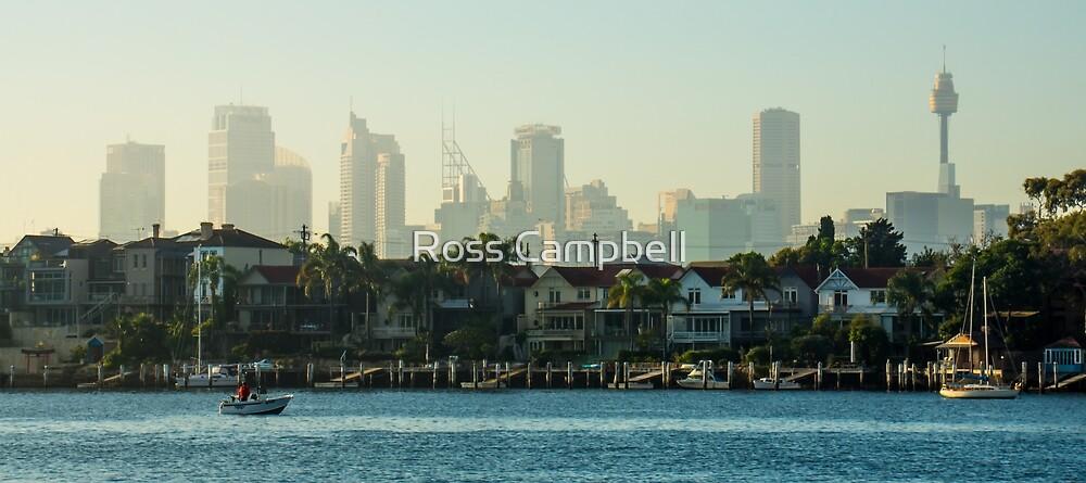 Morning on Sydney Skyline by Ross Campbell