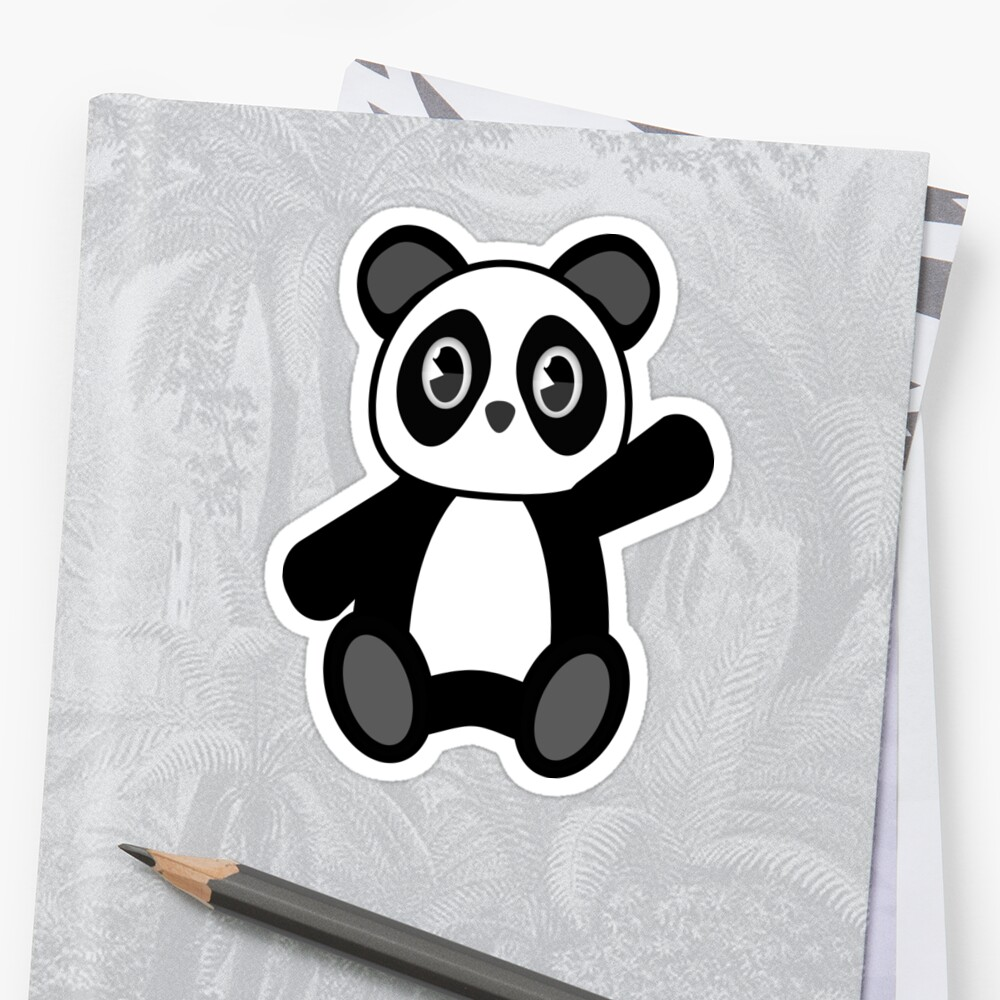 Cartoon Panda sticker  by yuforia