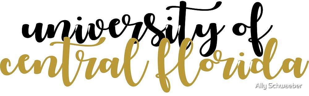 UCF Calligraphy by Ally Schwaeber