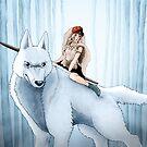 Princess Mononoke - San and Wolf by DKSartDesign