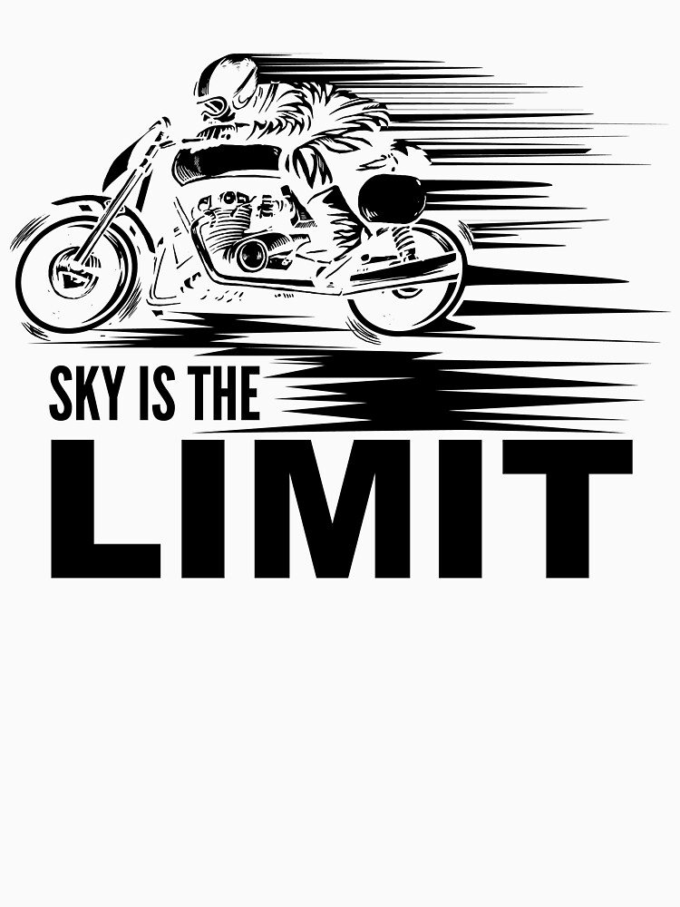 Sky is the limit vintage motorcycle by NiceTeee