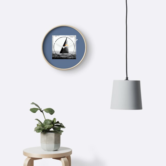Black and White Sailboat Design by Katie Rosell