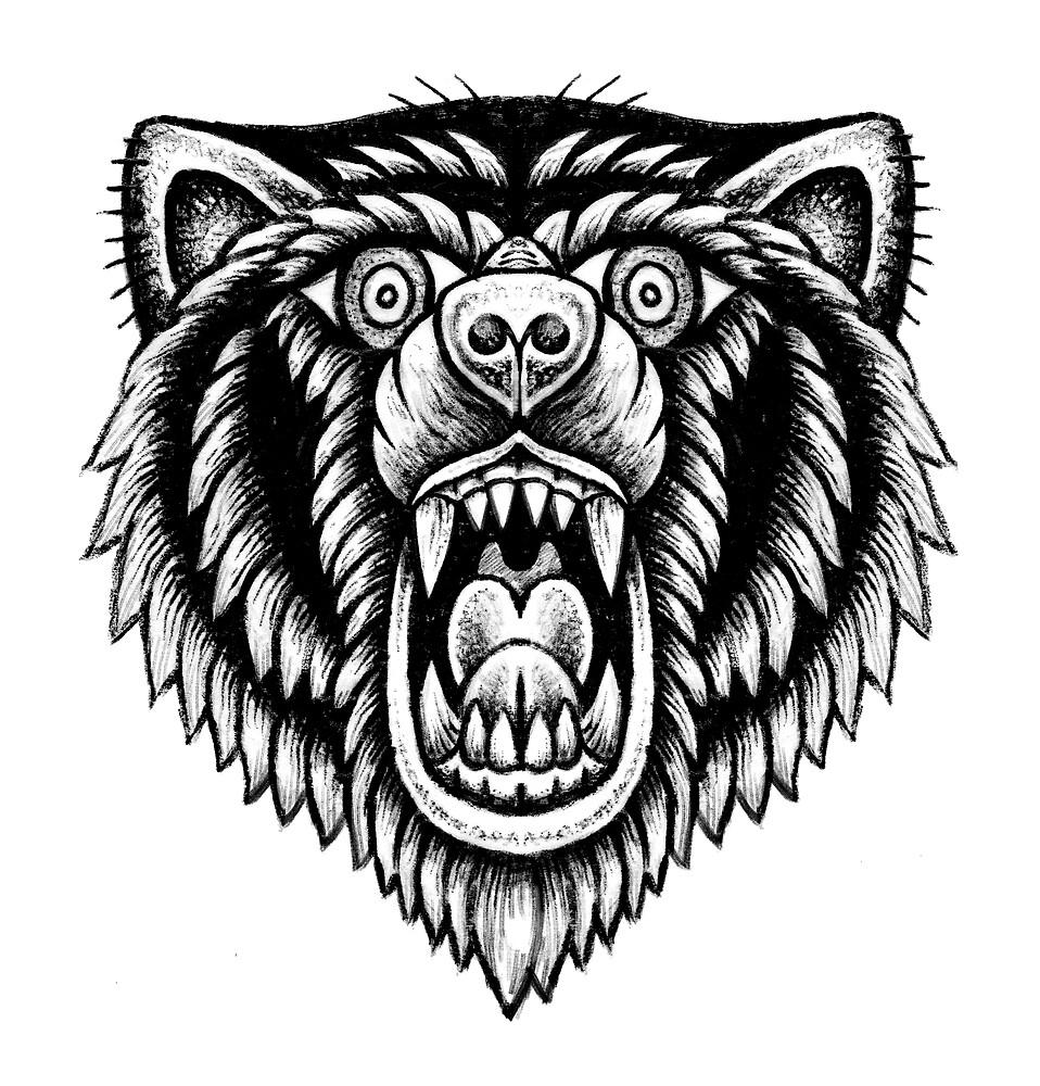Bear by tomgardenart
