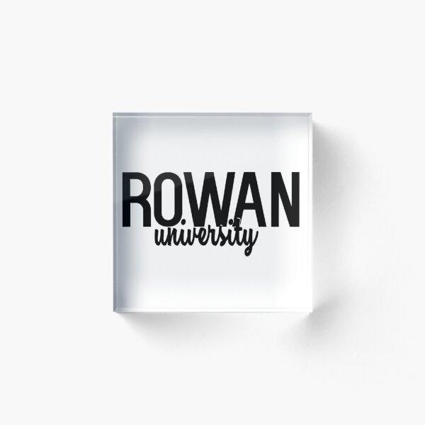 Rowan University Acrylic Block
