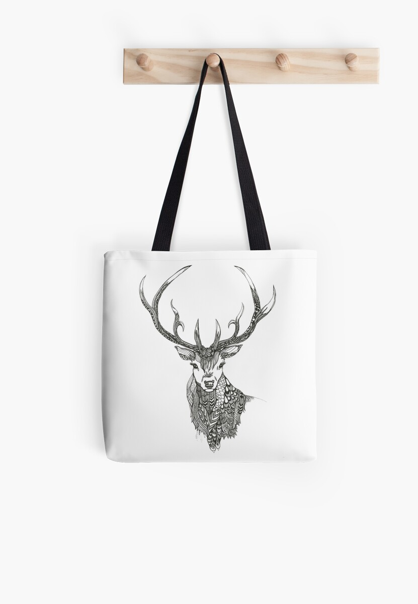 Patterned Stag Print by TheLittleInkery