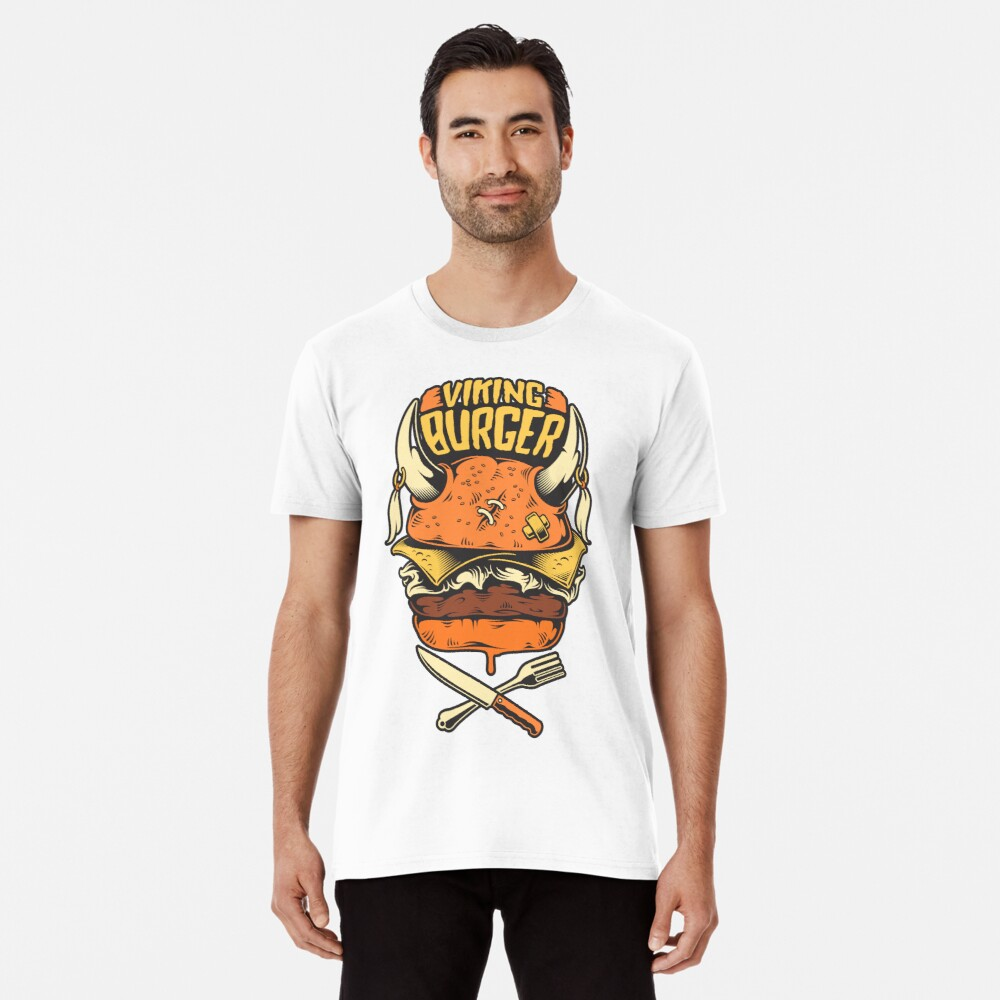 Viking Burger Men's Premium T-Shirt Front