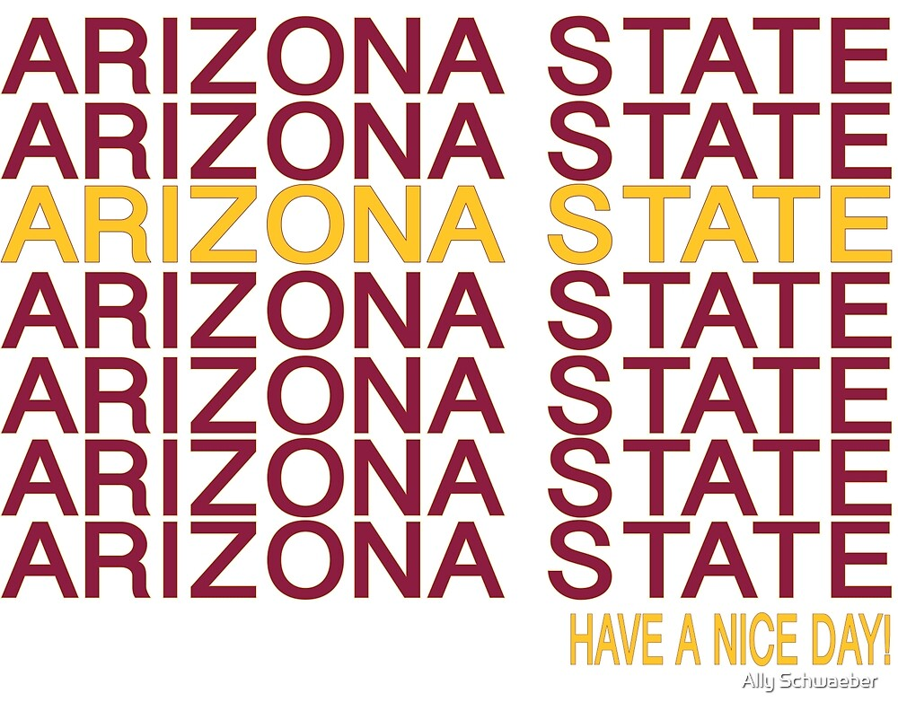 Arizona State Thank You by Ally Schwaeber