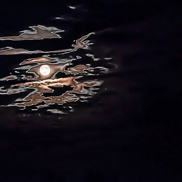 Moon and Mars Abstract by Kensabe
