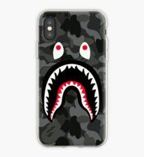 Vinilo o funda para iPhone Bape shark Black Army