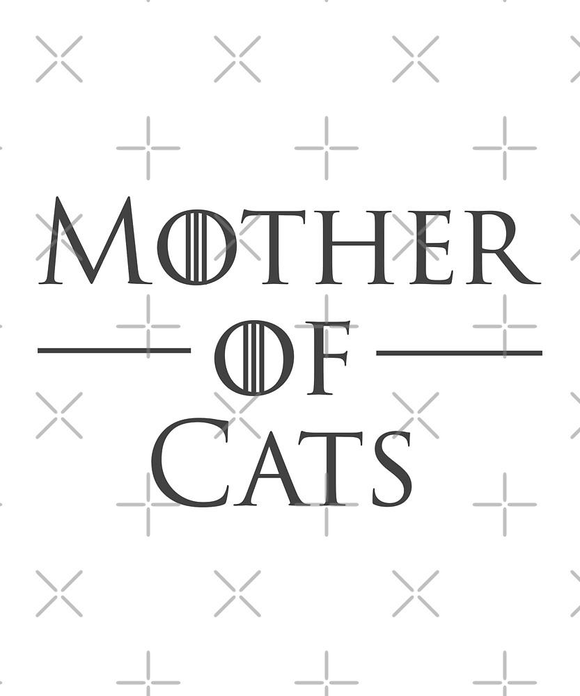 Mother of Cats Cat Mom Design by Katie Harp