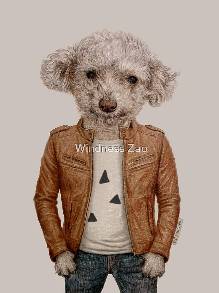 Smile dog boy by Windness Zao