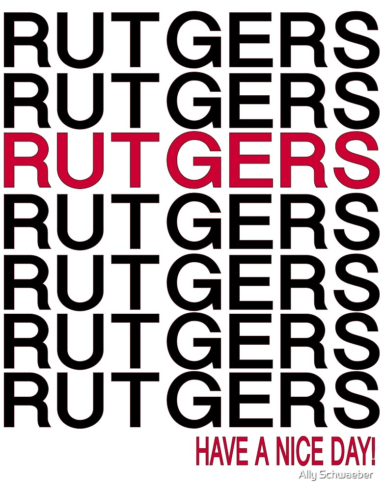 Rutgers Thank You by Ally Schwaeber
