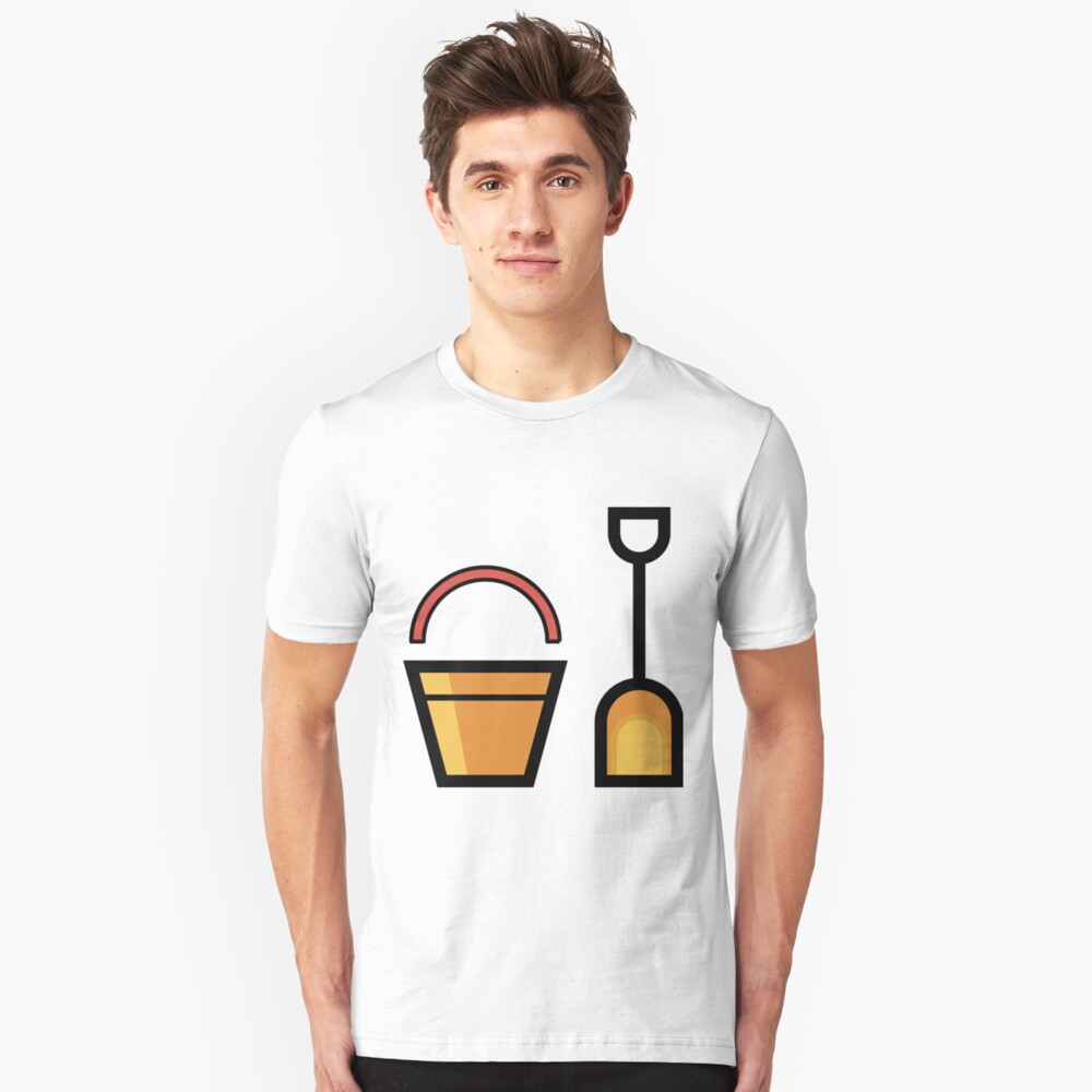 Sand Shovel And Bucket Cute Gift Idea Unisex T-Shirt Front