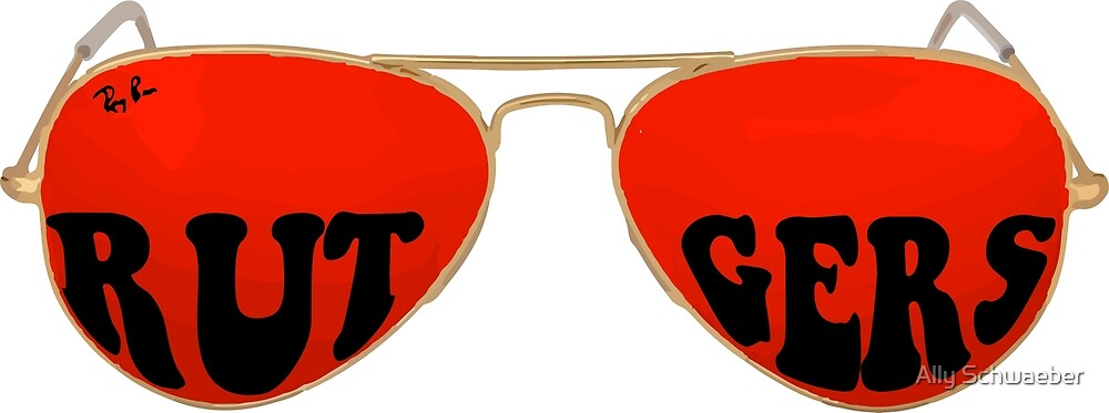 Rutgers Red Sunglasses by Ally Schwaeber